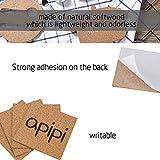 """Apipi 40 Pack Self-Adhesive Cork Squares - 4""""x"""