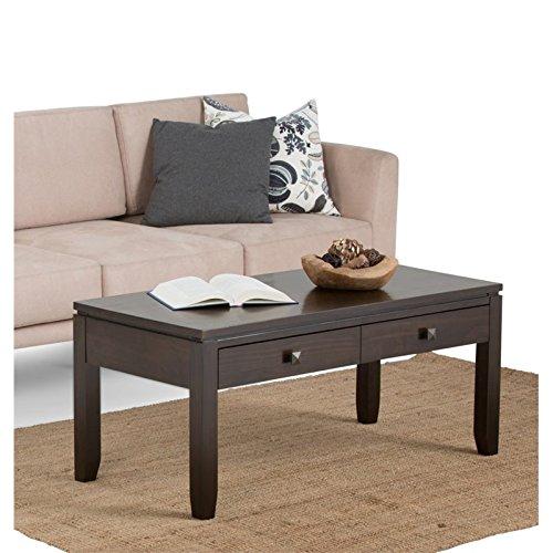 Amazon Com Atlin Designs Coffee Table In Coffee Brown Kitchen
