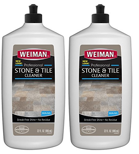Weiman Stone Tile and Laminate Cleaner - 32 Ounce 2 Pack - Professional Tile Marble Granite Limestone Slate Terra Cotta Terrazzo and More Stone Floor Surface ()