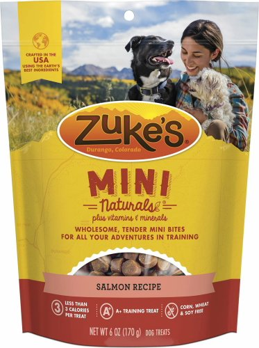 Zuke's Mini Naturals Dog Treats Salmon 9lb (24 x 6oz)