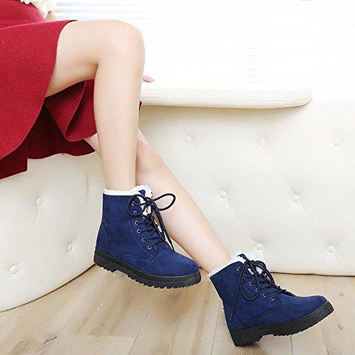 chaussures bleu neige femme Covermason mode chaud hiver aquatiques Court Bottes Chaussures de bottes an04W7