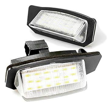 Luz LED de matrícula, homologada
