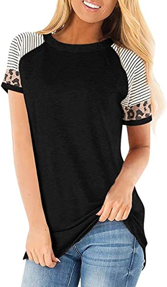LANREMON Womens Plus Size Top Long//Short Sleeve Casual Round Neck Tunic Tops with Pockets Baggy Shirts