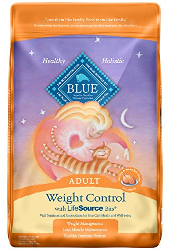 BLUE Adult Weight Control Chicken & Brown Rice Dry Cat Food 15-lb