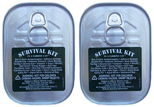 Survival Kit in a Sardine Can - Two Pack (Kit Sardine Survival Can)
