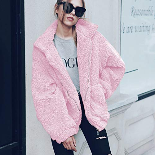 Manteau Longues Manches Rose Ecowish Femme aAzWwqg1g