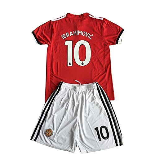 huge selection of d04f8 31016 Zlatan Ibrahimovic #10 Manchester United Home 17/18 Kids ...