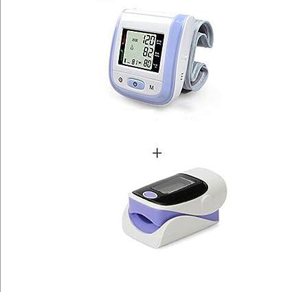 Oxímetro de dedo y monitor de frecuencia cardíaca and Tensiómetro de muñeca equipo, E