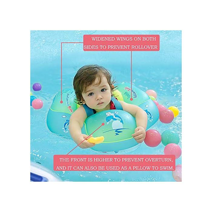 Flotador de natación para bebés con asiento y axila de chaleco: es el flotador de bebé de gran diseño con asiento y respaldo ajustable para que el bebé se divierta en la piscina o en la playa Hecho de calidad ambiental de PVC: material duradero e impermeable, no tóxico y seguro para tocar la piel suave del bebé. El proceso y el diseño cumplen los requisitos de las normas internacionales de seguridad de los juguetes. Garantizar la seguridad: 3 diseños de bolsas de aire independientes, cada bolsa de aire se puede inflar por separado para garantizar la seguridad del niño.