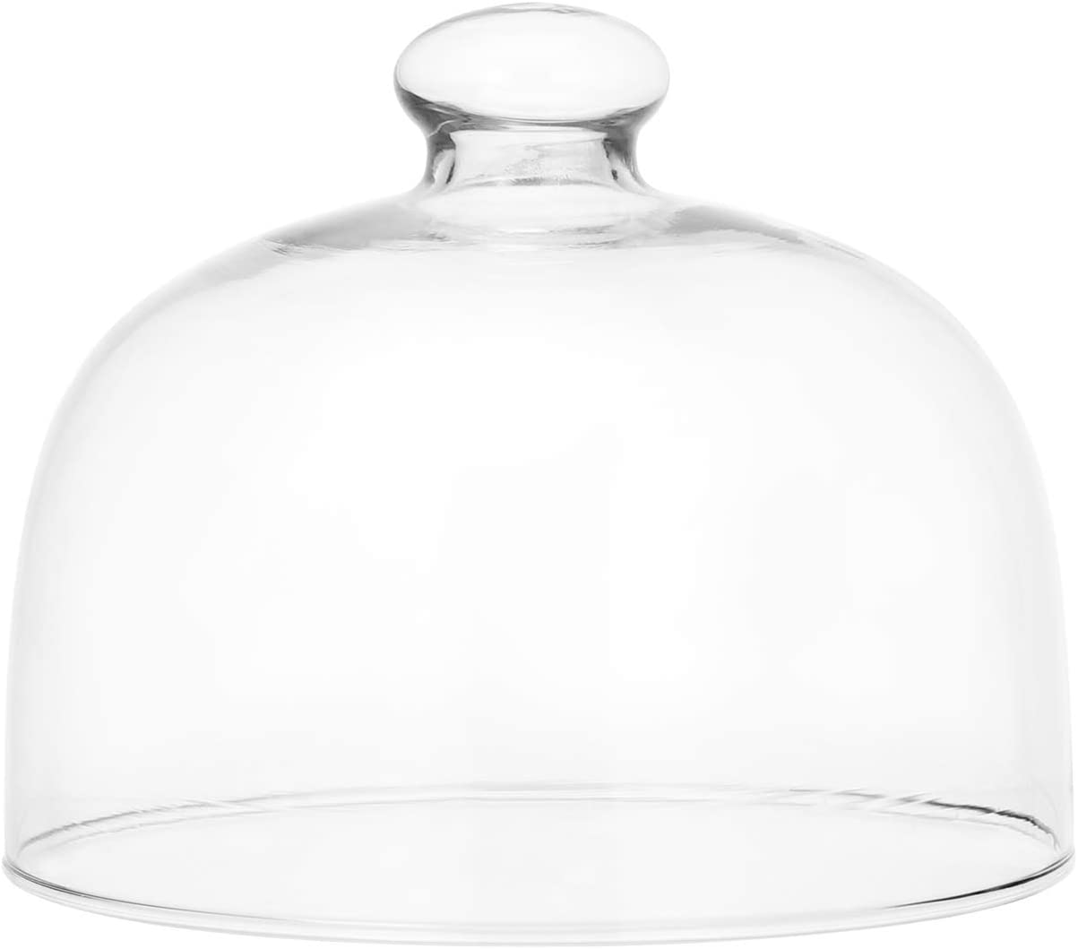 Hemoton Glass Round Cake Dome Cover, Food Plate Lid Clear Protective Cover for Home Baking Cake Dessert Display Platter Cover, 5.1 x 4.3 Inch