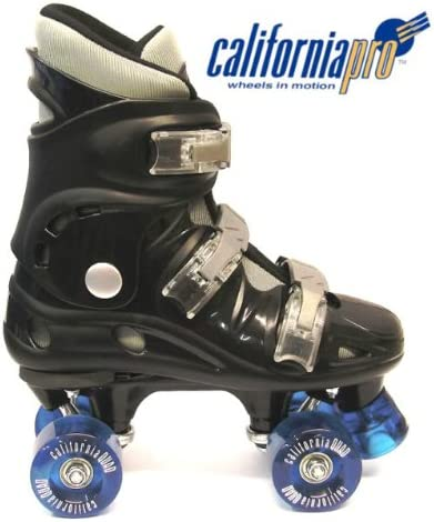 Ventronic California Pro Black Kids & Adults Quad Roller Skates / UK