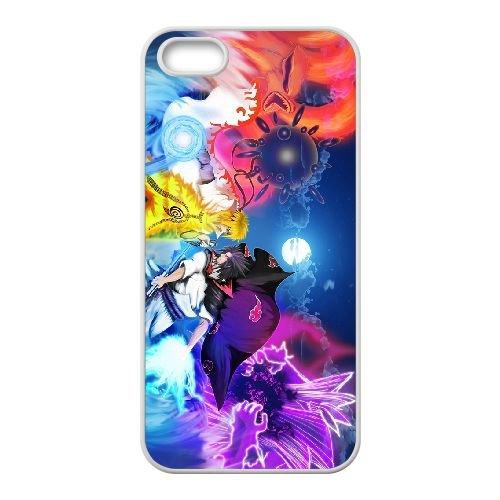 Naruto 002 coque iPhone 4 4S Housse Blanc téléphone portable couverture de cas coque EOKXLKNBC22084