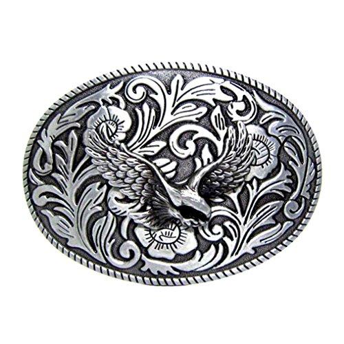 MASOP Oval Animal Eagle Cowboy Mens Metal Belt Buckle Suitable for 1.5 inch Belt - Mens Oval Belt Buckle
