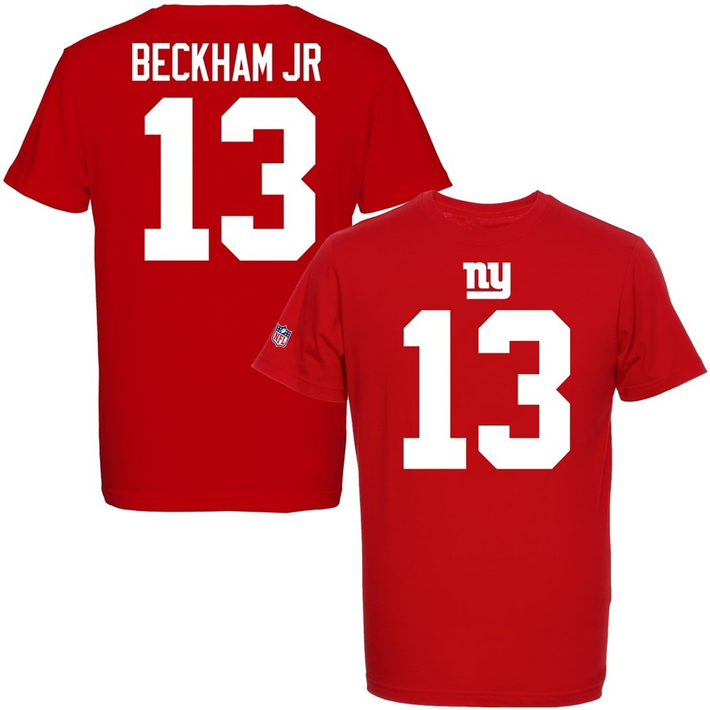 NY Giants #13 Odell Beckham Jr Majestic NFL Fan Shirt