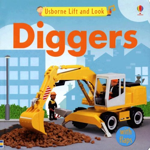 Usborne Lift and Look Diggers (Lift-and-look Board Books) by Brand: Usborne Pub Ltd (Image #1)