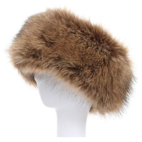 La Carrie Faux Fur Headband with Stretch Women's Winter Earwarmer Earmuff (natural) ()