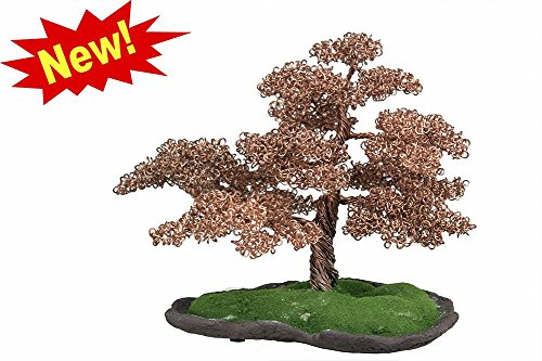 One of a Kind Hand Made Artistic Copper Wire Bonsai Tree ...