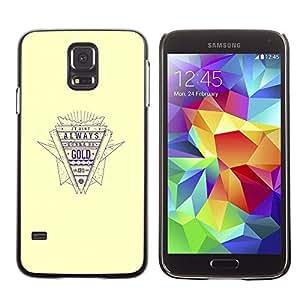 Stuss Case / Funda Carcasa protectora - Gold Quote Retro Style Slogan Life Success - Samsung Galaxy S5 SM-G900
