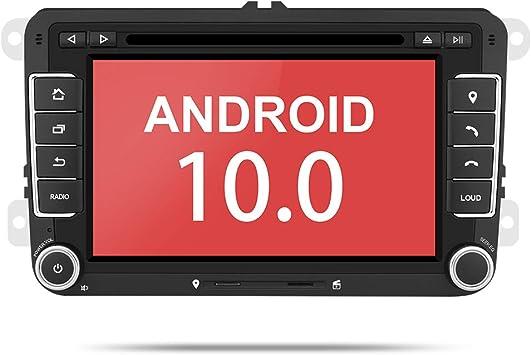 Aumume 7 Zoll Android 10 0 Autoradio Mit Navi Für Vw Elektronik