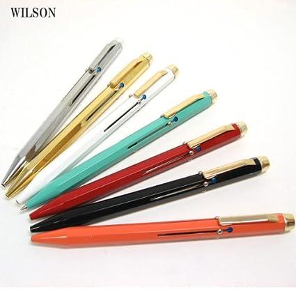 WILSON 4色 ボールペン イタリアメイド 輸入文具 筆記具 オレンジ