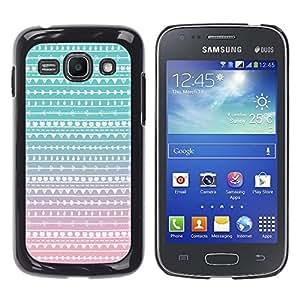 iKiki Tech / Estuche rígido - Teal Pink White Wallpaper - Samsung Galaxy Ace 3 GT-S7270 GT-S7275 GT-S7272