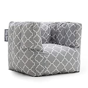 Big Joe Cube Quatrafoil Printed Smartmax Chair, Gray