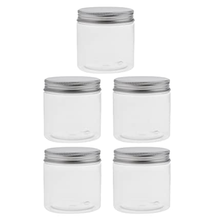 MagiDeal 5 Unidades Botella de PET Plástico Vacío Contenedores Cosméticos Envases con Tornillos de Aluminio Tapas