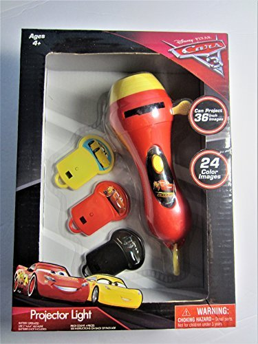 Disney Projector Light Cars 3 - 24 Color Images, Projects 36 Inch Images