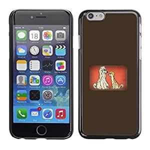 PC/Aluminum Funda Carcasa protectora para Apple Iphone 6 Plus 5.5 Dogs Couple Love Cartoon Fairytale Drawing / JUSTGO PHONE PROTECTOR