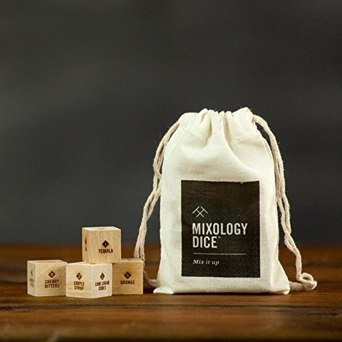 Mixology Dice® (pouch) // cocktail inspiration, gifts for him, men, guys, Valentine's Day, bartender, hostess, coworker or corporate office gift