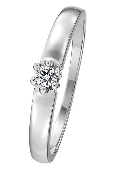 Christ Diamonds Damen Ring 333er Weissgold Ca 0 08 Karat Weissgold