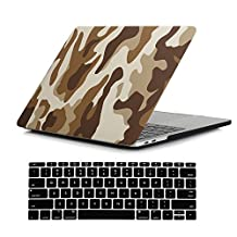 RYGOU 2 in 1 Hard Case Keyboard Cover for Newest MacBook Pro 13 Inch Without Touch Bar Model:A1708 (Released in Oct 2016)