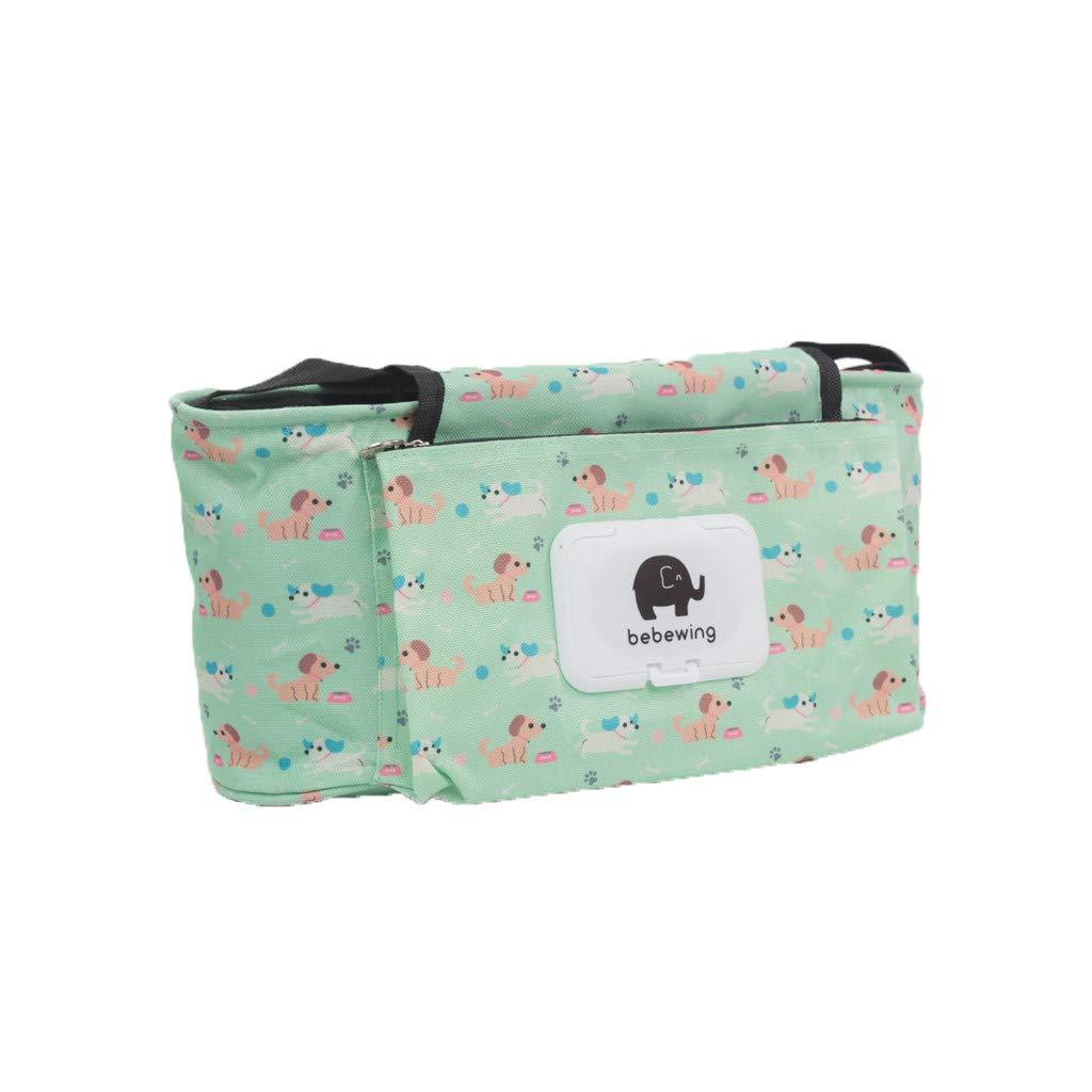 Stroller Organizer Bag,Baby Stroller Storage Bag,BCDshop Waterproof Accessories Cartoon Elephant Hanging Bags Pink