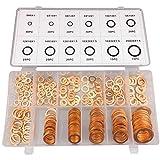 BaiFM Flat Ring Copper Washer Gasket Assortment Flat Metric Sealing Washers Set