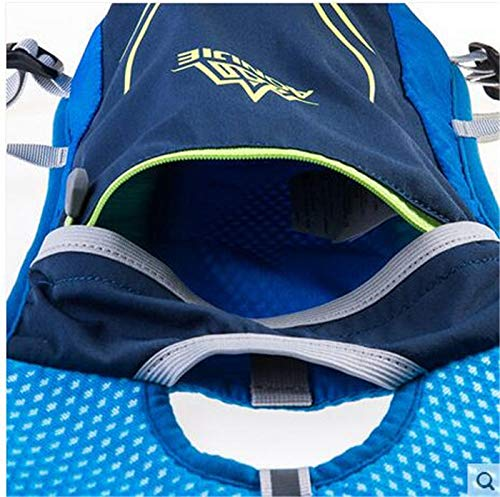 POJNGSN Hydration Nylon 5.5L Outdoor Running Bags Hiking Vest Cycling Backpack Blue 1 by POJNGSN (Image #4)
