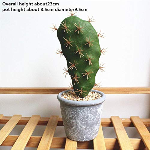 1 planta artificial de cactus blandos de simulación suculenta, planta artificial verde, flores de cactus falsas, bricolaje,...