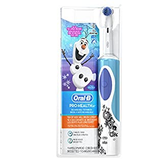 Oral-B Kids Electric Rechargeable Power Toothbrush Featuring Disney's Frozen, includes 2 Sensitive Brush Heads, Powered by Braun (B008CC3LWC) | Amazon price tracker / tracking, Amazon price history charts, Amazon price watches, Amazon price drop alerts