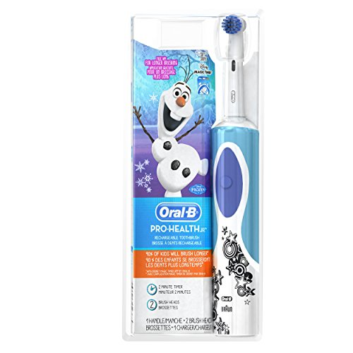 Oral-B Kids Electric Rechargeable Power Toothbrush Featuring Disney's Frozen, includes 2 Sensitive Brush Heads, Powered by Braun -