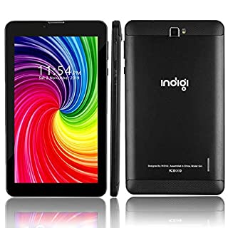 Indigi 4G GSM Unlocked! 7-inch IPS Touch Screen Android 9.0 DualCore Smartphone Phablet Google Play Store (Black)