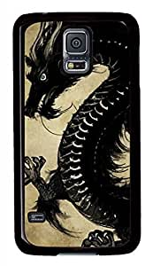 Chinese Black Dragon Black Hard Case Cover Skin For Samsung Galaxy S5 I9600