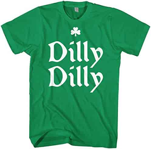Mixtbrand Men's Dilly Dilly ST. Patrick's Day & Gold Crown T-Shirt