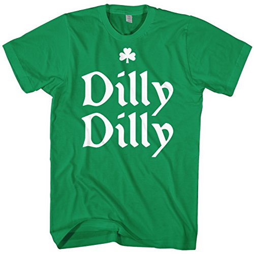 Mixtbrand Men's Dilly Dilly St. Patrick's Day T-Shirt L Kelly -