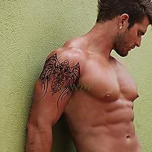 ljmljm 4 Piezas Etiqueta engomada del Tatuaje a Prueba de Agua ...