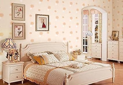 Korean style pastoral dandelion flowers wallpapers romantic bedroom