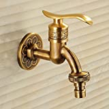 YanCui@ Antique copper single cold quick washing machine taps , b