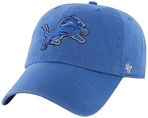 NFL Detroit Lions '47 Clean Up Adjustable Hat, Blue Raz, One Size