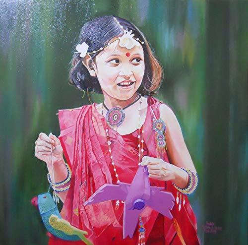 Cute Girl (Oil Painting by Amruta Dabhekar): Amruta Dabhekar