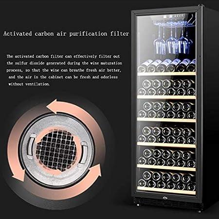 hanzeni Nevera para Vinos - Refrigerador De Vino De Compresor Libre De Escarcha para Vinos Blancos Y Tintos con Control De Temperatura con Memoria Digital