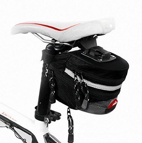 YiJee Bicicleta Portatil Bicicleta Saddle Bolso de la Bolsa Trasera de la Cola Del Asiento Trasero Del Rack de Almacenamiento Negro