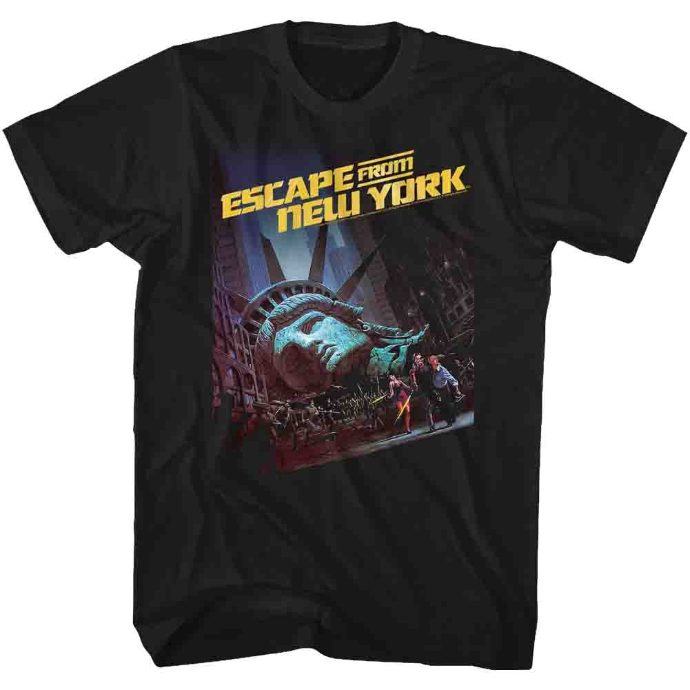 American Classics Escape from New York Men's Run Poster 2 T-Shirt X-Large Black
